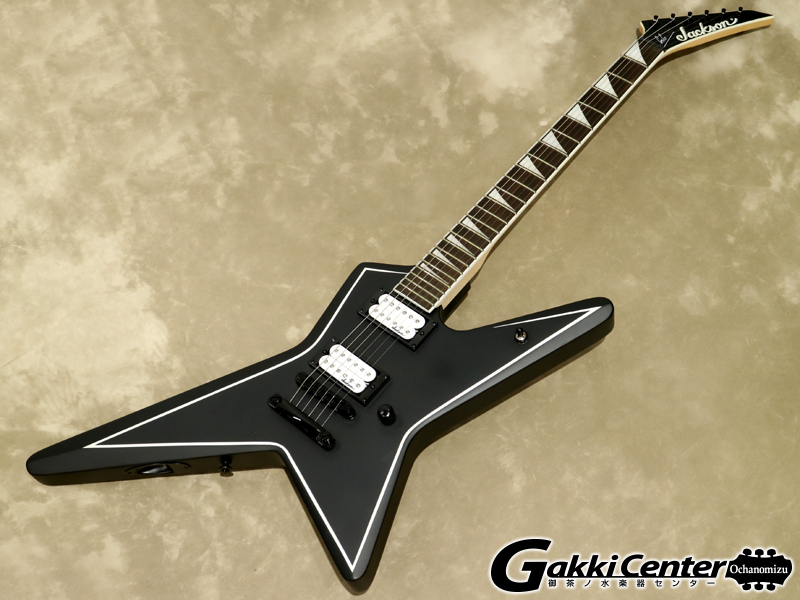 【SALE】Jackson JS32 Gus G. STAR Satin Black with White Pinstripes【WEBSHOP在庫】