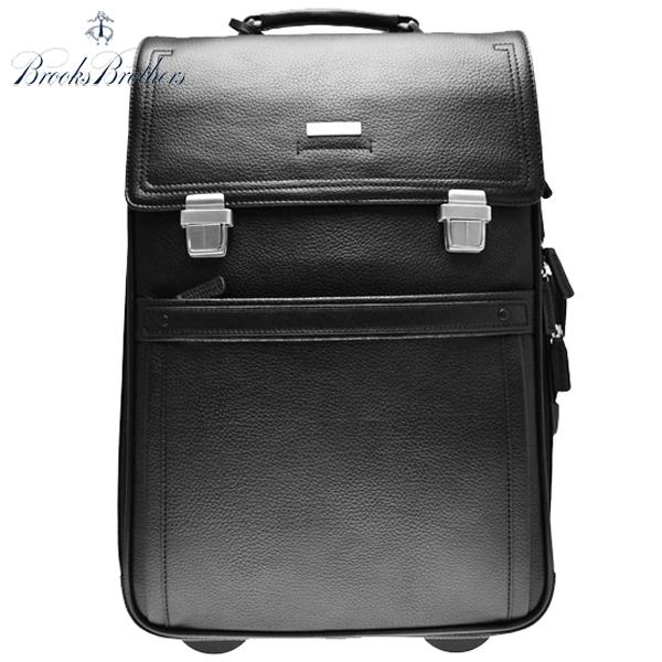 ブルックスブラザーズ 総革 レザー スーツケース BROOKS BROTHERS キャリーバッグ ラゲージ 旅行鞄 ブラック 黒【アメトラ】【送料無料】