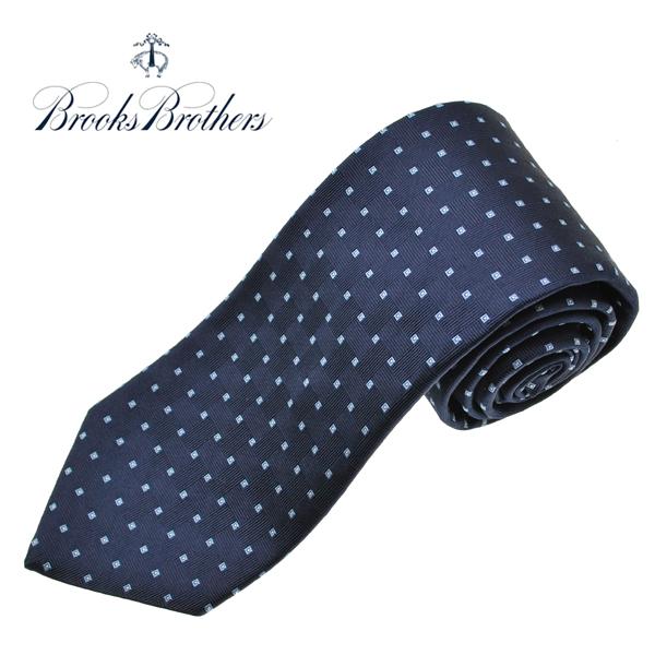 ブルックスブラザーズ ネクタイ BROOKS BROTHERS 小紋 シルクタイ アメリカ製 ネイビー