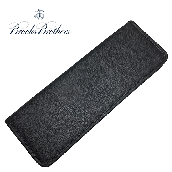 ブルックスブラザーズ ネクタイケース BROOKS BROTHERS 本革 レザー 黒 ブラック