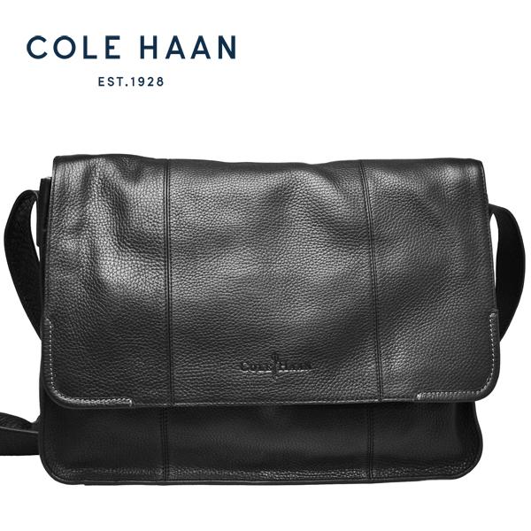 コールハーン Cole Haan メッセンジャーバッグ メンズ 本革 レザー PC収納 斜め掛け ショルダーバッグ 黒 ブラック【A11256】【MERCED ll MESSENGER 】【送料無料】