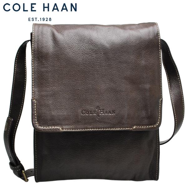 コールハーン Cole Haan ショルダーバッグ 本革 レザーバッグメンズ 焦茶 ダークブラウン【A11323】【NEWSPAPER BAG】【ニュースペーパーバッグ 】【送料無料】