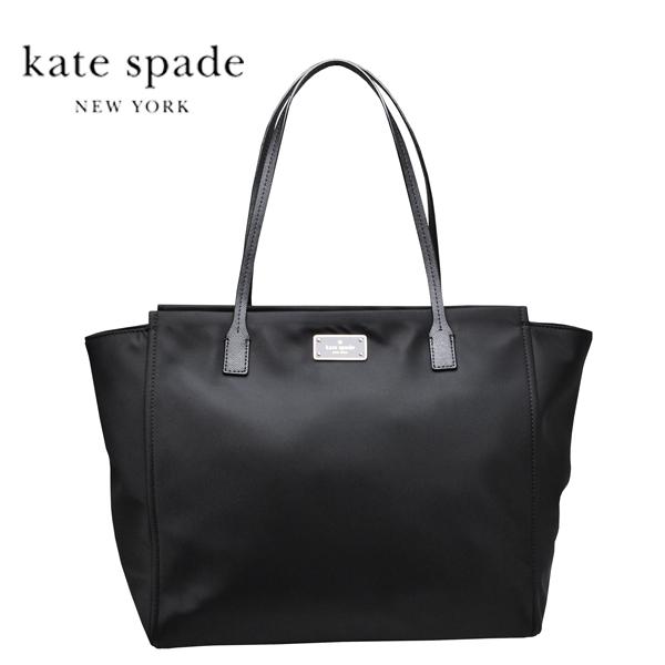 ケイトスペード KATE SPADE トートバッグ ナイロン レザー ハンドバッグ 黒 ブラック【WKRU3526】【アウトレット】【送料無料】