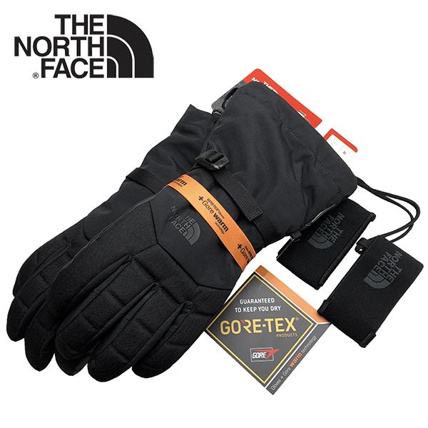 ノースフェイス ゴアテックス 手袋 THE NORTH FACE GORE-TEX 防水 防寒 透湿 ウォータープルーフ スキー スノーボード グローブ 黒 ブラック メンズ S