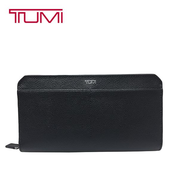 TUMI 長財布 トゥミ 本革 レザー ジップアラウンド オーガナイザー トラベルウォレット 男女兼用 ブラック【送料無料】