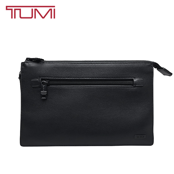 TUMI クラッチバッグ トゥミ セカンドバッグ ポーチ 本革 レザー 黒 ブラック