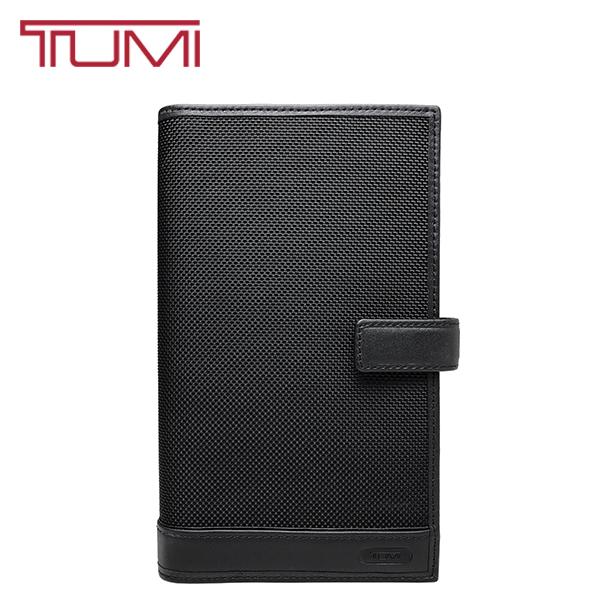 TUMI トラベルウォレット トゥミ 長財布 本革 レザー バリスティックナイロン パスポートケース 旅行 出張 オーガナイザー 男女兼用 ブラック