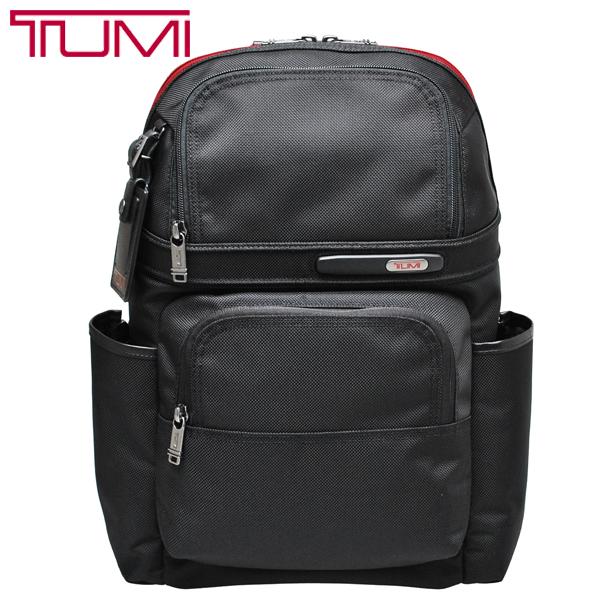 TUMI バックパック 263162 トゥミ PC収納 リュックサック バッグ 黒 ブラック レッド