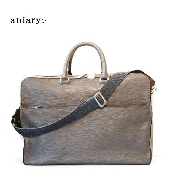 【送料無料】aniary(アニアリ)Wave Leather ウェーブレザー ブリーフバッグ 【16-01001】
