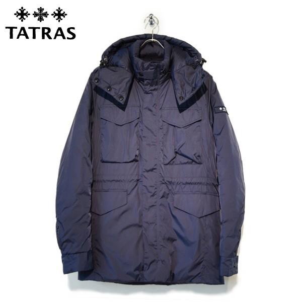 TATRAS(タトラス)19-20A/W メンズ フード付き ミリタリー ダウンジャケット