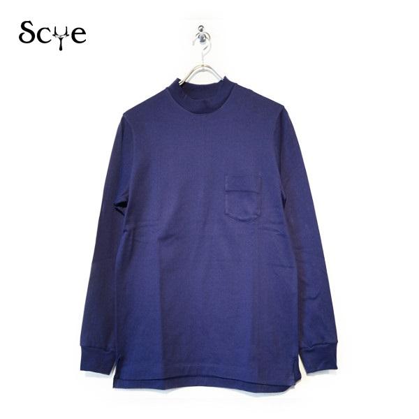 【送料無料】SCYE BASICS(サイベーシックス)度詰吊り天竺 ロングスリーブ Tシャツ GREY グレー【5118-21581】