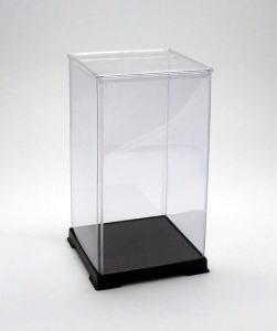サイズ一覧可能 購入 最安値 特価品コーナー☆ フィギュアケース ディスプレイケース コレクションケース プラスチックケース 横幅21×奥行21×高さ40 人形ケース 透明プラ 折りたたみ式ケース cm