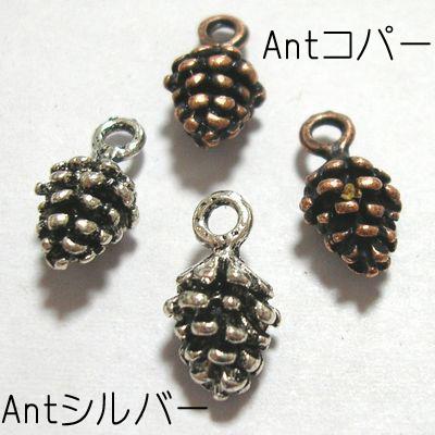 チベタンスタイル チャーム 松ぼっくり 10個入 日本全国 送料無料 本物 13×16.5mm