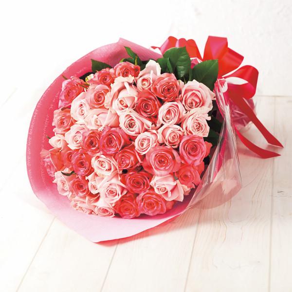 (送料無料)サンキュー 母の日花束(バラ39本)ピンク色系【母の日 プレゼント ギフト】