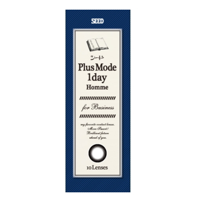 【12箱セット送料無料】シード プラスモードワンデーオム PlusMode1dayHomme ビジネス 10枚入り×12箱 カラーブラック メンズカラコン ワンデイ