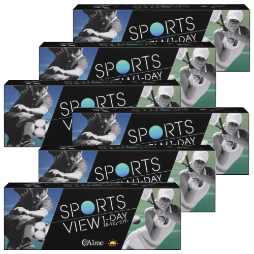 【送料無料!6箱セット】スポーツビューワンデー 30枚入り 6箱 コンタクトレンズ 1日使い捨て sports view 1day アイミー