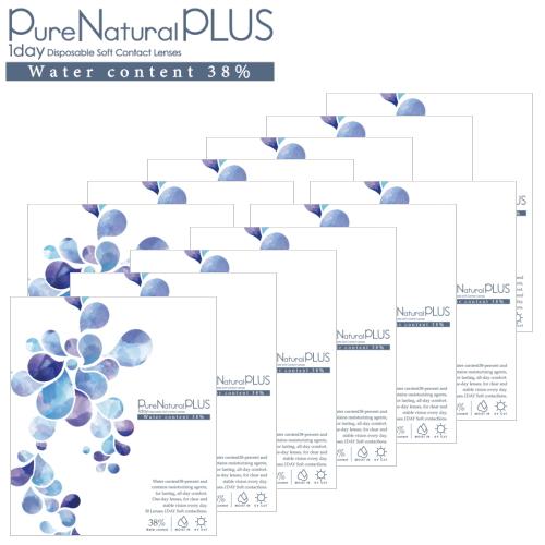 【ピュアナチュラルワンデーがリニューアル!】【送料無料!12箱】ピュアナチュラル プラス 38% 低含水 Pure Natural PLUS 30枚入 12箱 1日使い捨て コンタクトレンズ