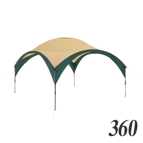 コールマン(Coleman) テント・タープ パーティーシェードDX/360 (グリーン/ベージュ) 2000033123 キャンプ アウトドア