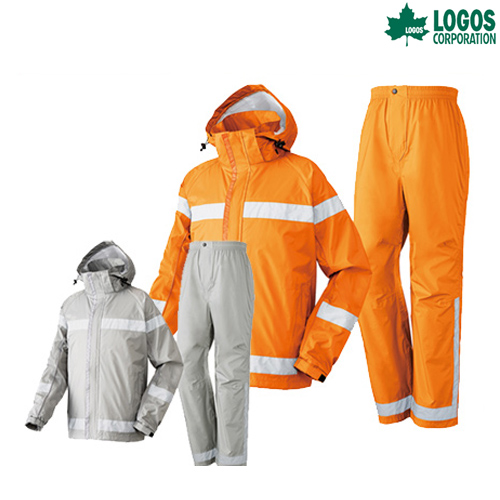 LOGOS(ロゴス) 難燃レインスーツ スタンツ LIPNER レインウェア レインウエア カッパ キャンプ アウトドア