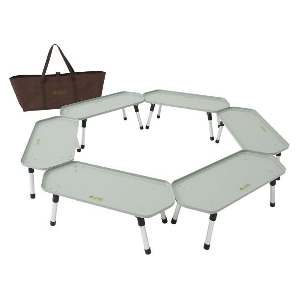ロゴス(LOGOS) フォールディングテーブル 六角囲炉裏ラックテーブル 81064138 ファニチャー(テーブル イス) テーブル 机 キャンプ アウトドア