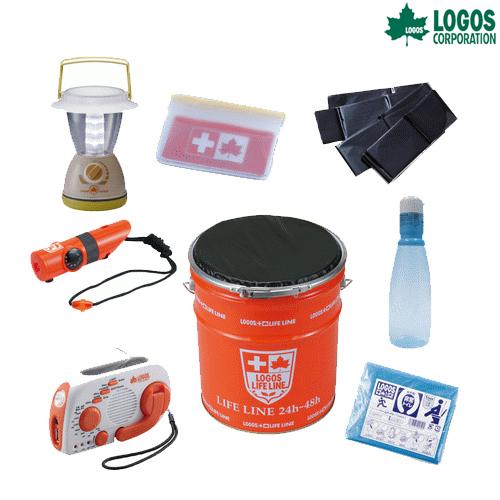 ロゴス(LOGOS) 防災用品 LLL 防災缶18点セット 82100005 キャンプ アウトドア