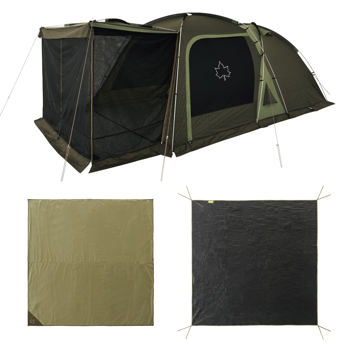 ロゴス(LOGOS) キャンプ用テント(3~5人用) neos 3ルームドゥーブル XL-BJチャレンジセット 71809559 テント タープ キャンプ用テント キャンプ アウトドア