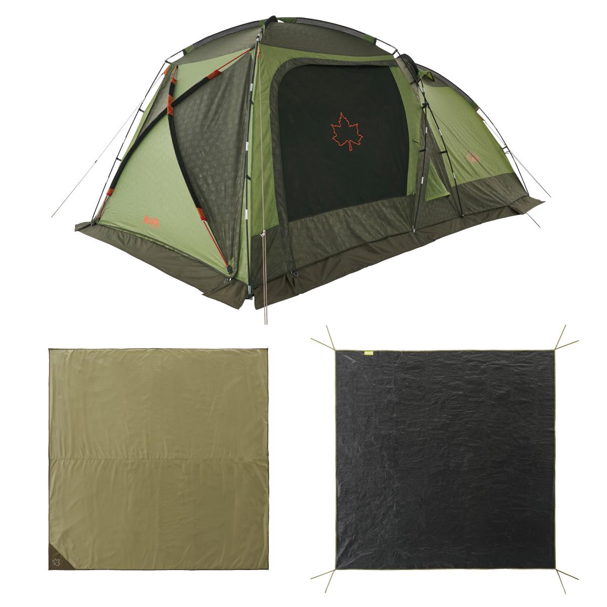 ロゴス(LOGOS) キャンプ用テント(3~5人用) neos PANELスクリーンドゥーブル XL-BJチャレンジセット 71809560 テント タープ キャンプ用テント キャンプ アウトドア