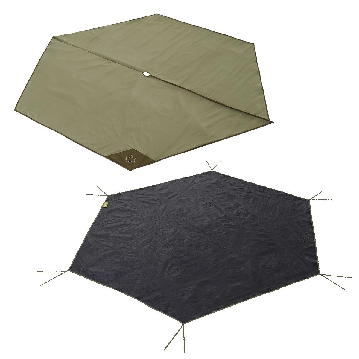 ロゴス(LOGOS) グランドシート Tepee マット&シート300 71809720 テント タープ用品 キャンプ アウトドア