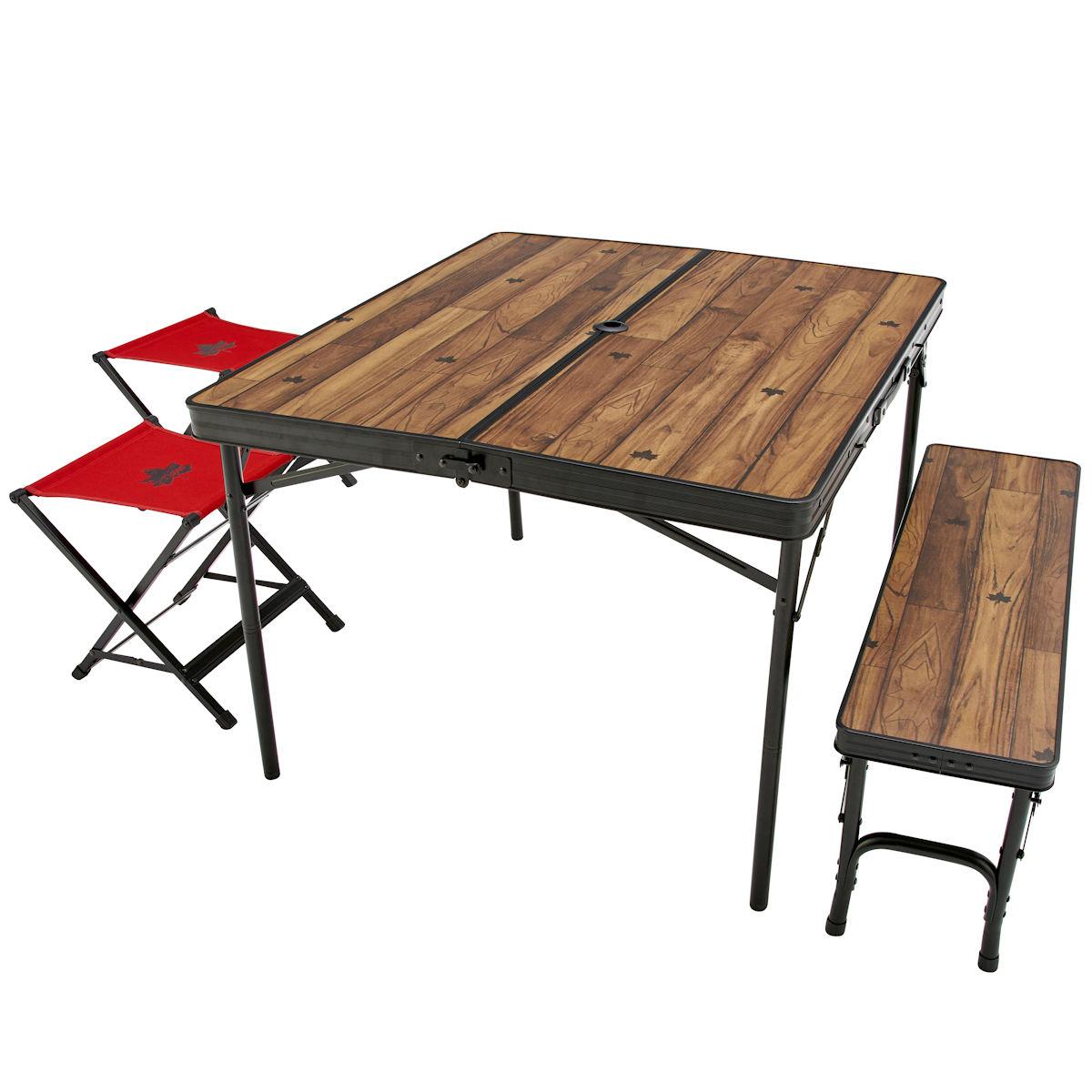 ロゴス(LOGOS) フォールディングテーブル Tracksleeper ベンチ&チェアテーブルセット4 73188004 ファニチャー(テーブル イス) テーブル 机 キャンプ アウトドア