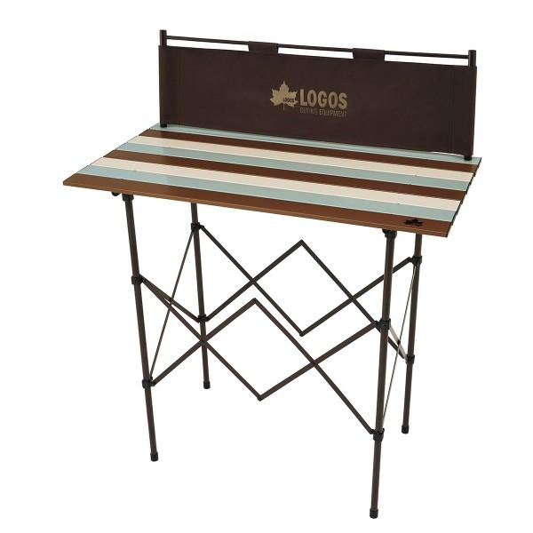 ロゴス(LOGOS) フォールディングテーブル LOGOS Life キッチンパーティーカウンター 9047(ヴィンテージ) 73188010 ファニチャー(テーブル イス) テーブル 机 キャンプ アウトドア