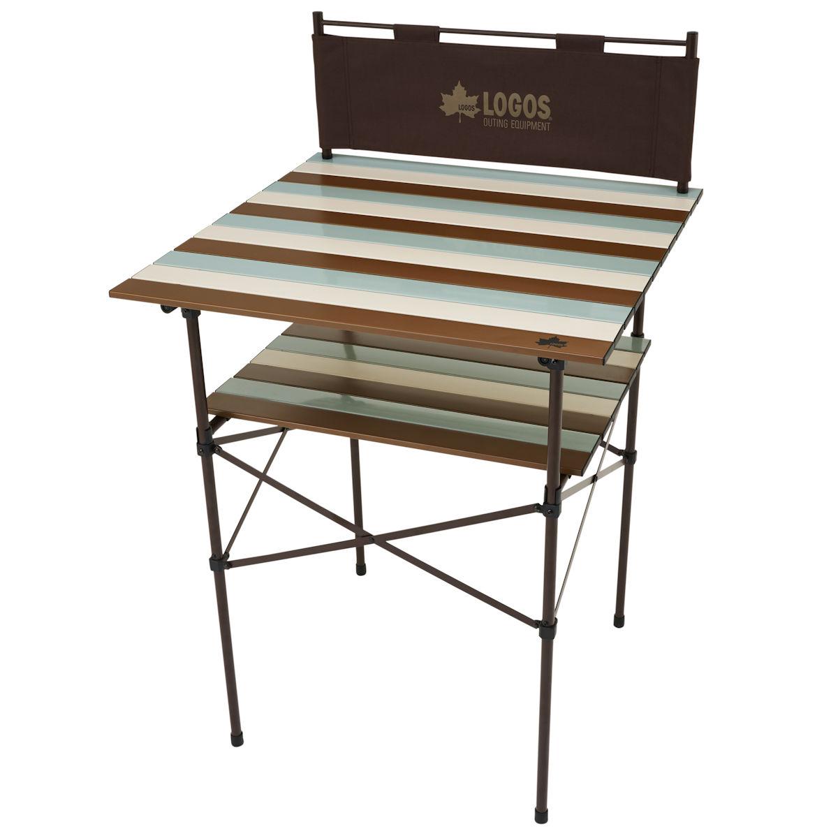 ロゴス(LOGOS) フォールディングテーブル LOGOS Life キッチンパーティーカウンター 7070(ヴィンテージ) 73188011 ファニチャー(テーブル イス) テーブル 机 キャンプ アウトドア