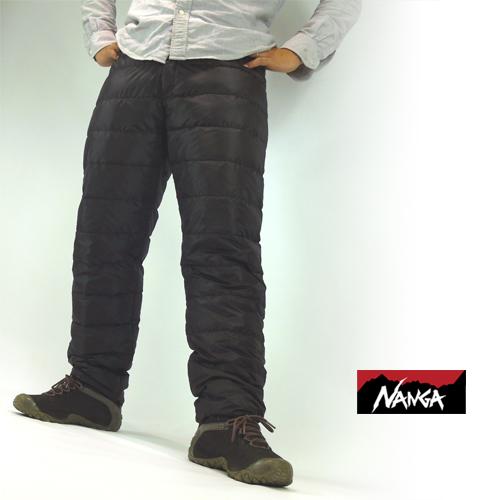ナンガ (NANGA) ポータブルダウンパンツ メンズ・レディース兼用 ダウン パンツ 防寒 キャンプ アウトドア