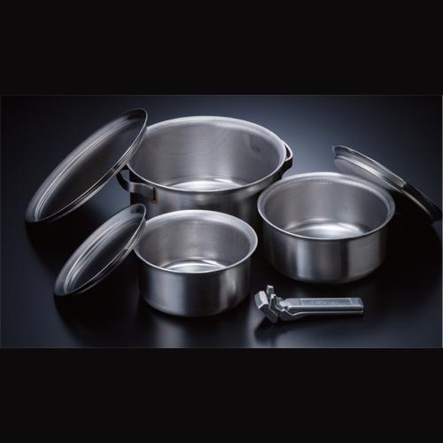 ソト(SOTO) クッカー(鍋)セット ステンレスヘビーポット GORA(ゴーラ) st-950 調理用品 食器類 クッカー(鍋) 調理器具 キャンプ アウトドア