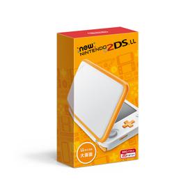 送料無料 未使用品 2DS Newニンテンドー2DS LL ホワイト×オレンジ NB6690