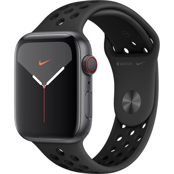 【送料無料】未開封 Apple Watch Nike Series 5(GPS + Cellularモデル)- 44mm スペースグレイアルミニウムケースとアンスラサイト/ブラックNikeスポーツバンド MX3F2J/A  NB4325