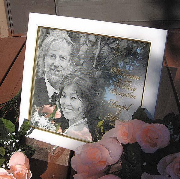 卓上用ウェルカムボード(ミラー)スタンド付送料無料(沖縄と離島を除く)結婚祝い,結婚記念,ギフト,クリスマス