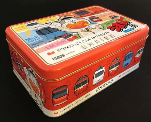 4月20日よりお申し込み順に順次発送。【数量限定】ロマンスカーミュージアム開業記念商品「オリジナルうまい棒缶(チーズ味27本入り)」※お一人様4缶までのご購入となります。