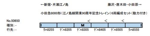 小田急8000形(江ノ島線開業90周年記念トレイン)6両編成セット(動力付き)【TRAINS購入特典カタログ付き!】