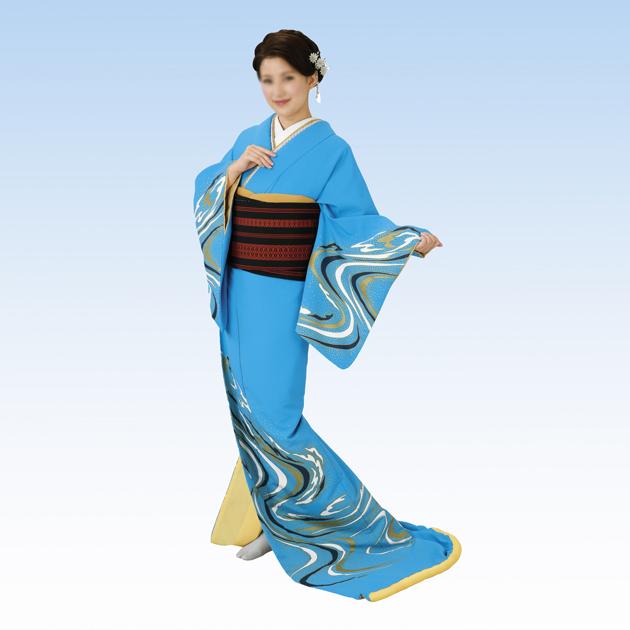 【SALE】 裾引き 流水 仕立て上がり 仕立て上がり 着物(きもの)水色地 流水 舞台衣裳に。日本の踊り, CHUMS(チャムス)ONLINE SHOP:6420f0d5 --- canoncity.azurewebsites.net