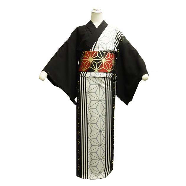 当社オリジナル品 踊り用着物(きもの) 踊り衣装 お揃い着物 胴抜 仕立て上がり 組み合わせきもの