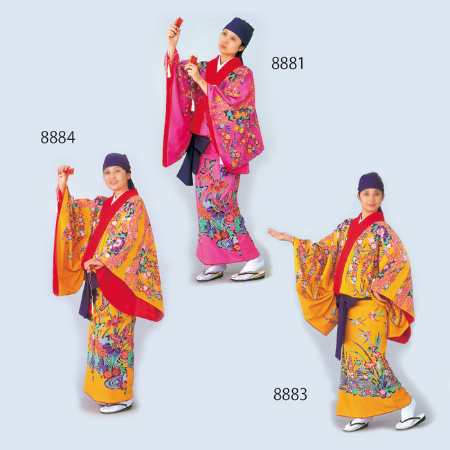 沖縄民謡衣裳 びんがた衣裳 袷仕立て上り※ご自宅でお手入れができます。
