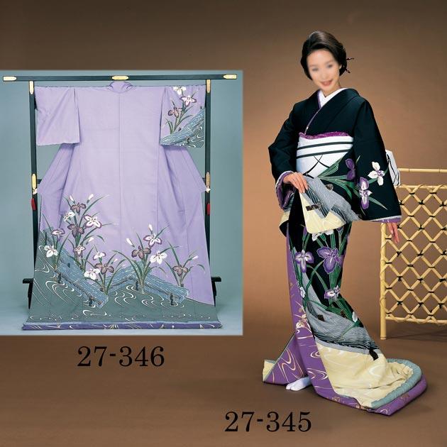 踊り 着物 裾引き 芸者着 大衆 演劇 仕立上がり ポリエステル 日本舞踊、歌謡舞踊のステージ用。