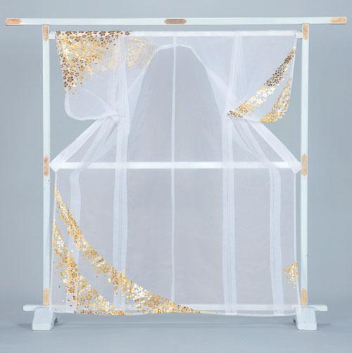 かつぎ かけ仕立 金 色紙 白被衣 ※こちらはかけ仕立てでのお届けですかつぎ仕立にもできます。