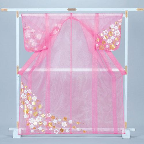 かつぎ かけ仕立 桜 ピンク被衣 ※こちらはかけ仕立てでのお届けですかつぎ仕立にもできます。