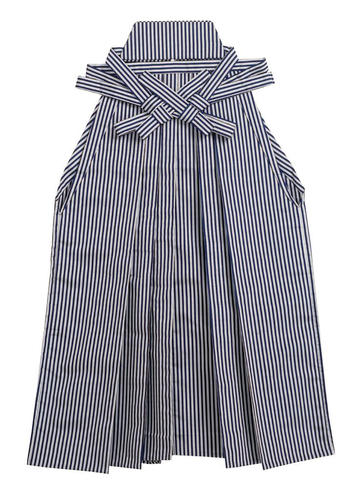 踊り用 袴 縞 はかま グレー 紺(縞巾約4mm)舞台衣裳、卒業式、成人式等にも「きぬずれ」 A-y