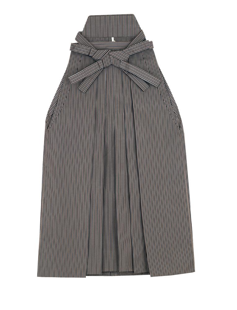踊り用 袴 縞 はかま 紺 茶(縞巾約7mm)舞台衣裳、卒業式、成人式等にも「きぬずれ」