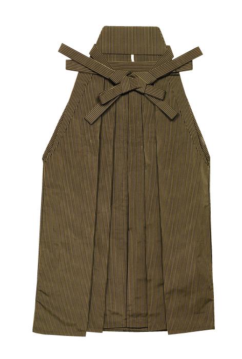 踊り用 袴 縞 はかま 茶 こげ茶(こげ茶縞巾約7mm)舞台衣裳、卒業式、成人式等にも「きぬずれ」