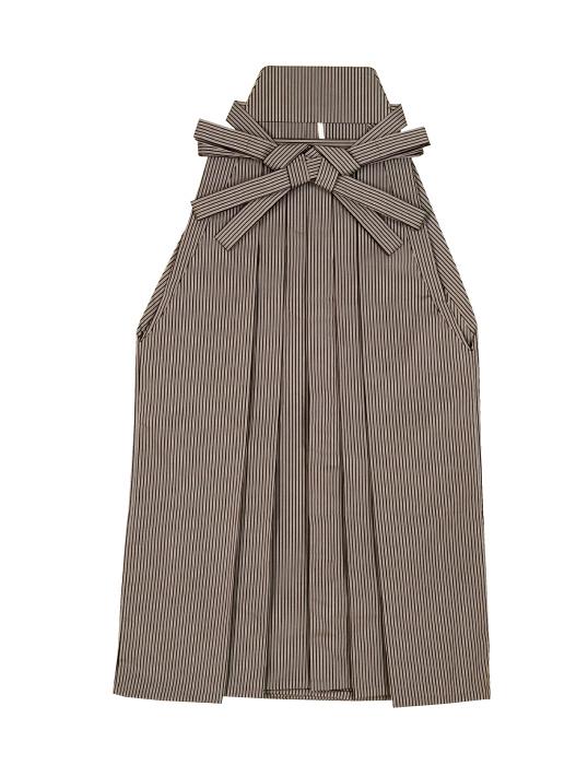 踊り用 袴 縞 はかま (グレー縞巾約4mm黒縞巾約1.5mm)舞踊 舞台 衣装 ステージ「きぬずれ」