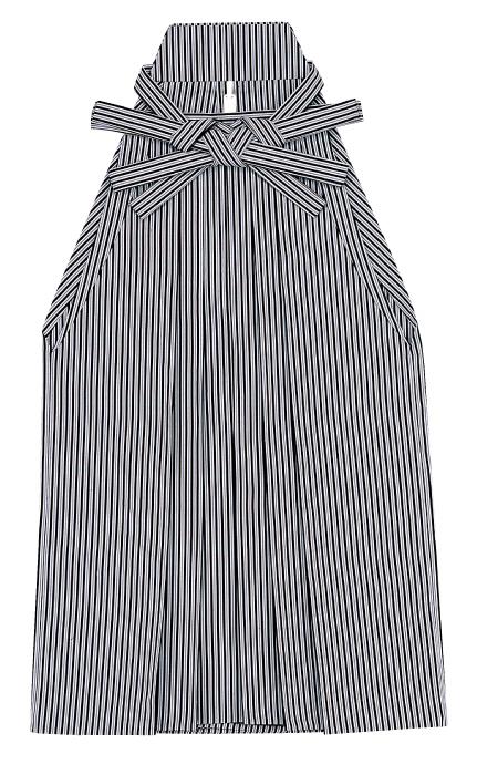 踊り用 袴 縞 はかま グレー 黒(黒縞巾約3mm)舞台衣裳、卒業式、成人式等にも「きぬずれ」A