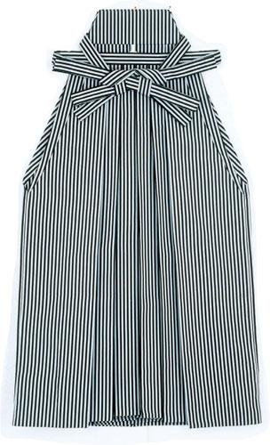 踊り用 袴 縞 はかま グレー 黒(縞巾約5mm)舞踊 舞台 衣装 ステージ「きぬずれ」A-y